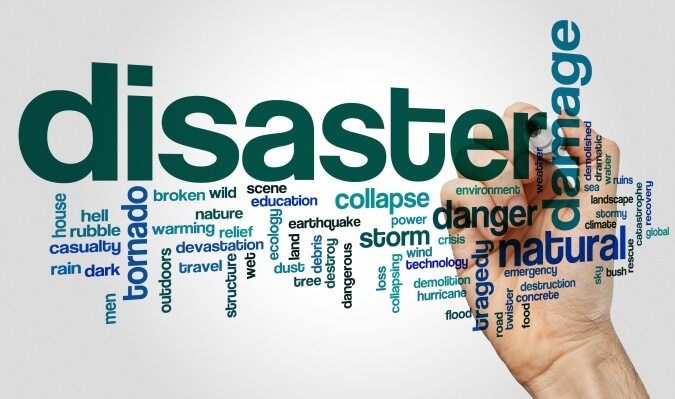 Disaster word cloud concept